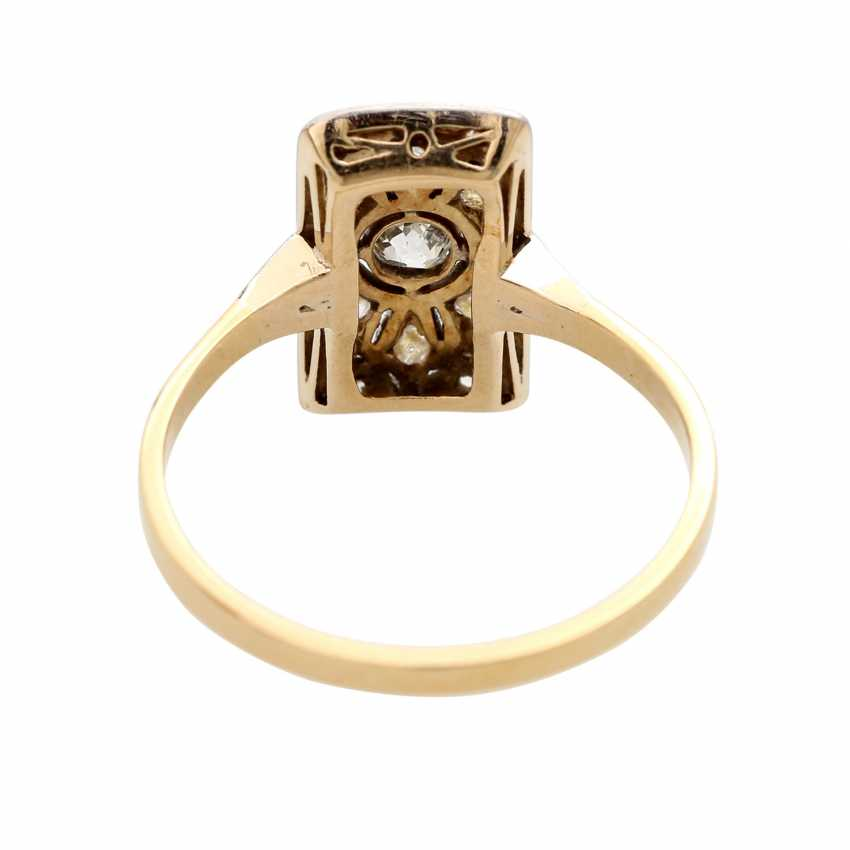 ART DECO ladies ring, centered 1 old European cut diamond - photo 4