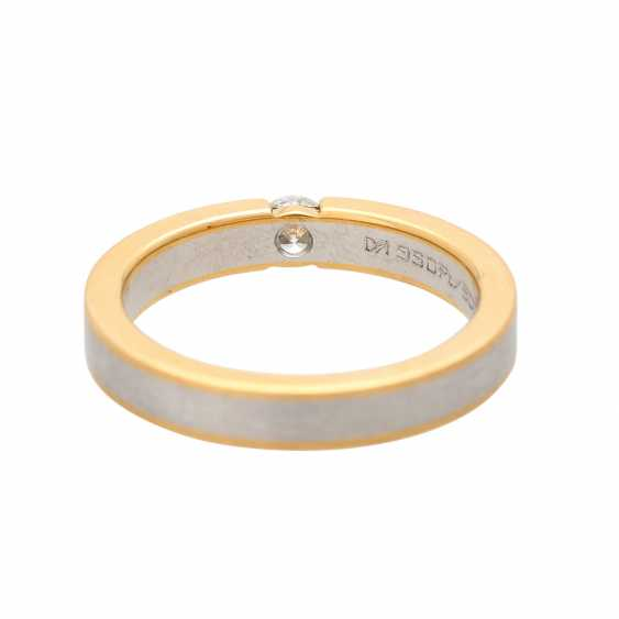 Ladies ring studded with 1 diamond approx 0,20 ct, - photo 4