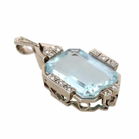ART DECO pendant with aquamarine. - photo 3