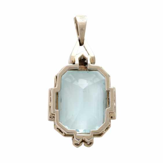 ART DECO pendant with aquamarine. - photo 4