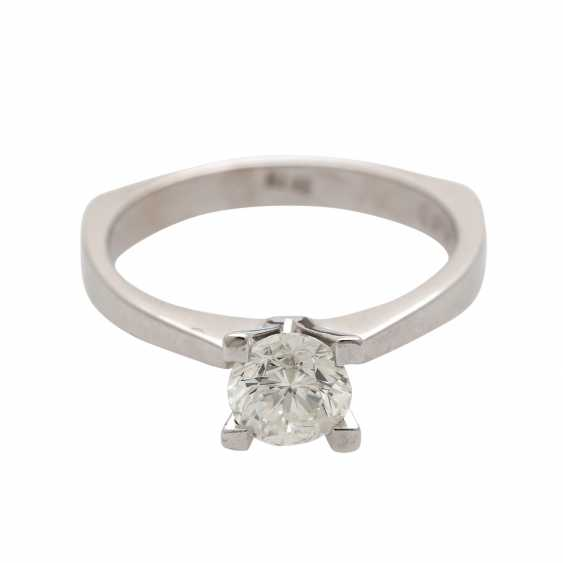 Engagement ring,1 diamond,03 ct, engraved. - photo 1