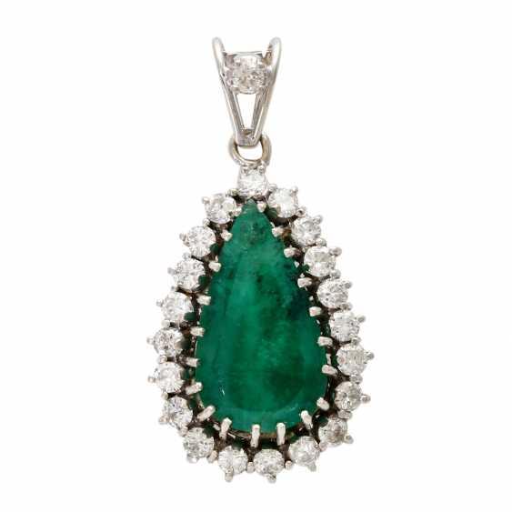 Drops flock with emerald & diamonds. - photo 1