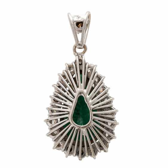 Drops flock with emerald & diamonds. - photo 4