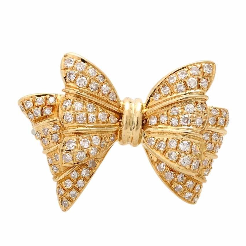 Brooch set with diamonds, together approx. 0,90 ct, - photo 1