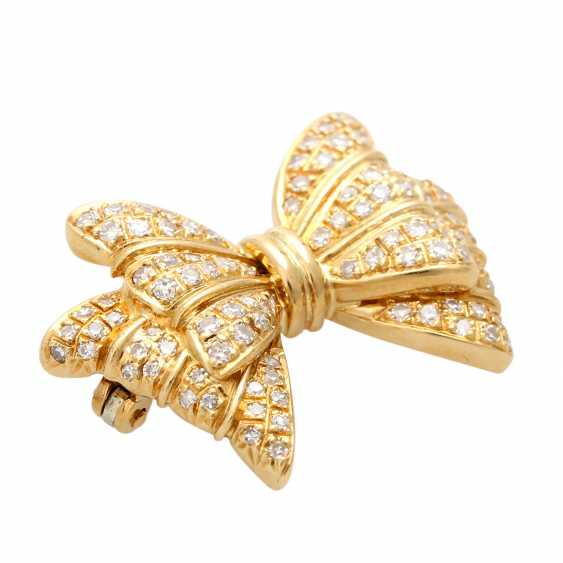 Brooch set with diamonds, together approx. 0,90 ct, - photo 3
