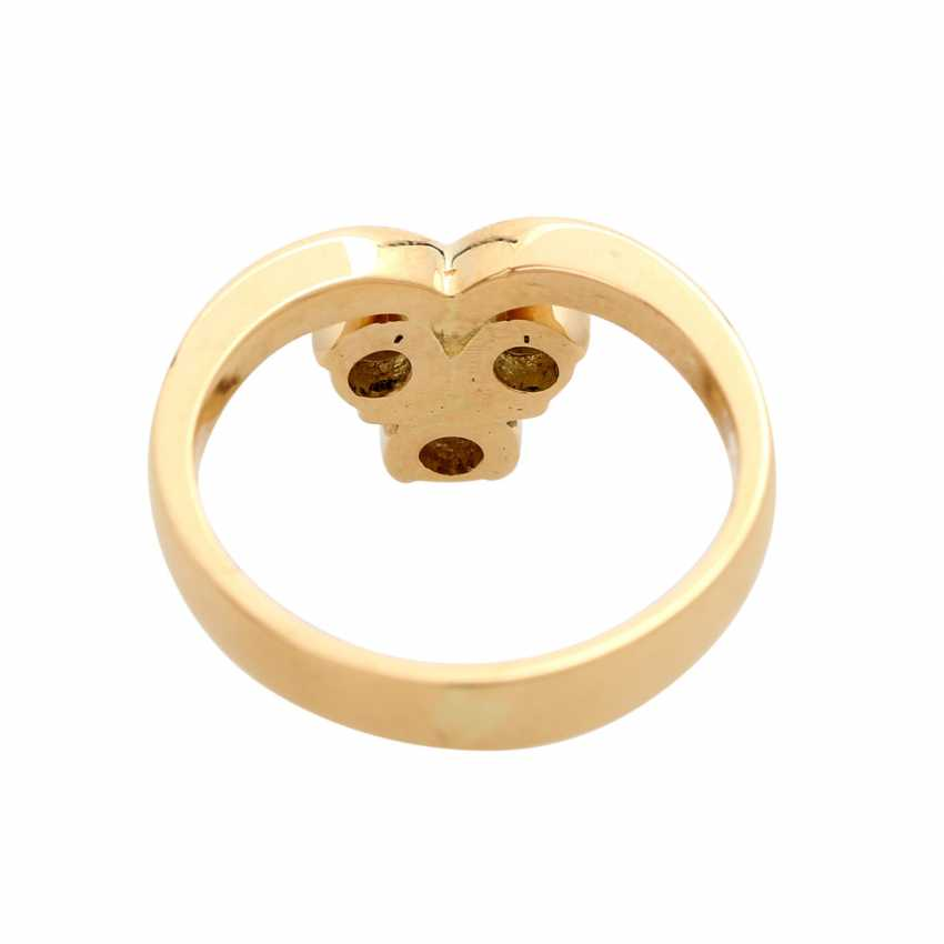 Ring with 3 brilliant-cut diamonds, together ca 0.5 ct, - photo 4