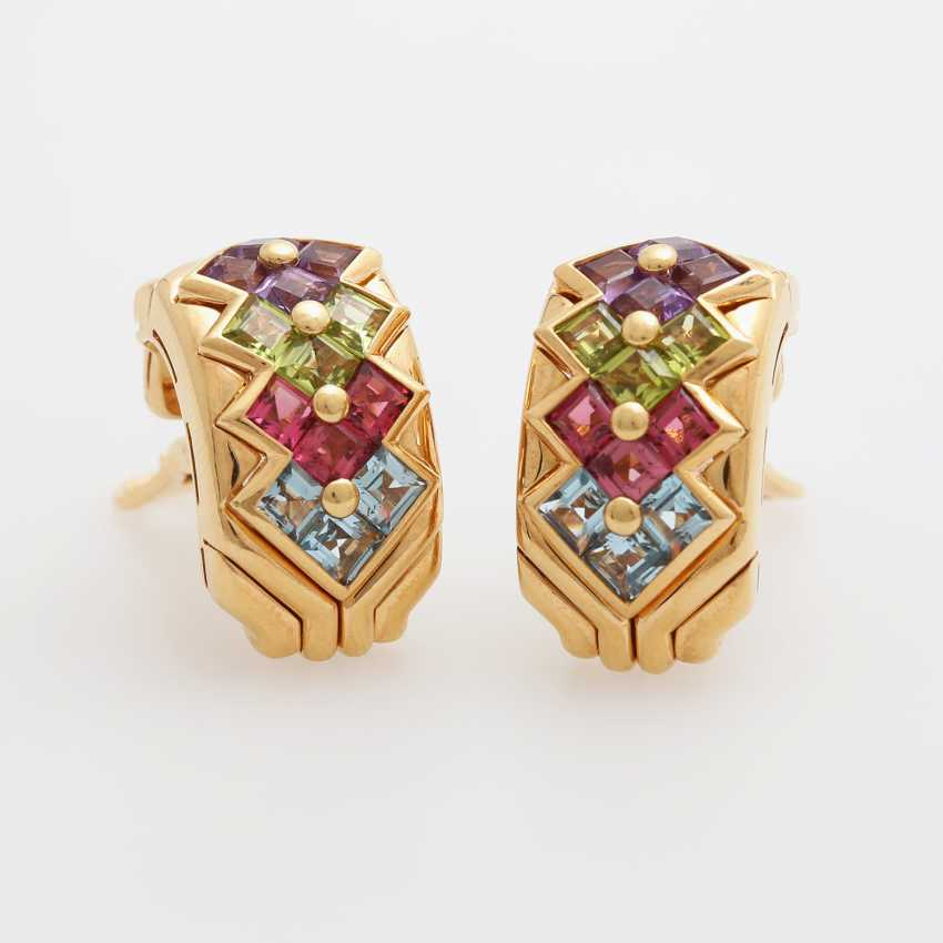 BULGARI clip earrings m. Color gemstones - photo 1