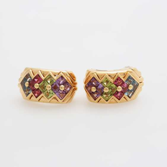 BULGARI clip earrings m. Color gemstones - photo 2
