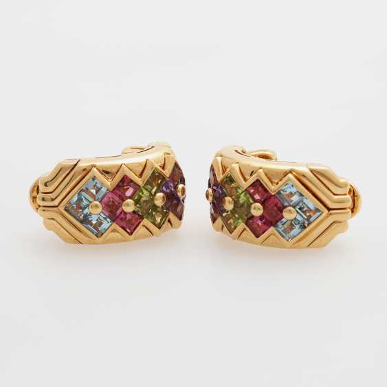 BULGARI clip earrings m. Color gemstones - photo 3