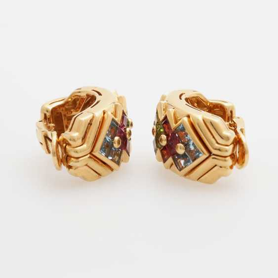 BULGARI clip earrings m. Color gemstones - photo 4