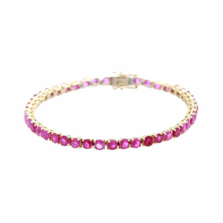Bracelet bes. with rundfac. Rubies - photo 1