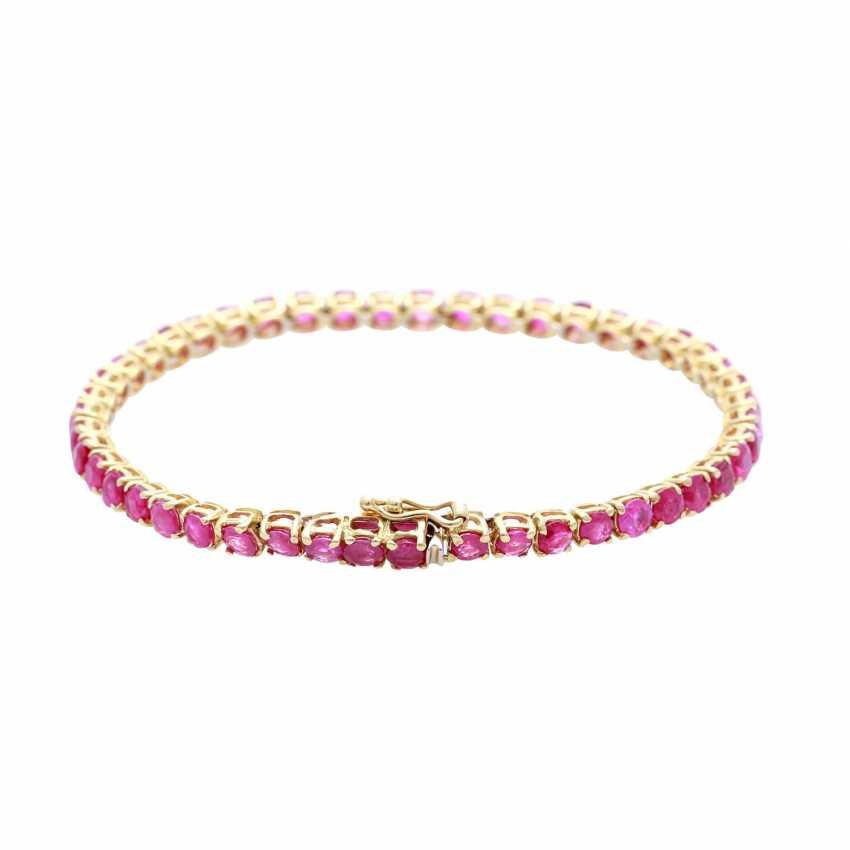 Bracelet bes. with rundfac. Rubies - photo 2