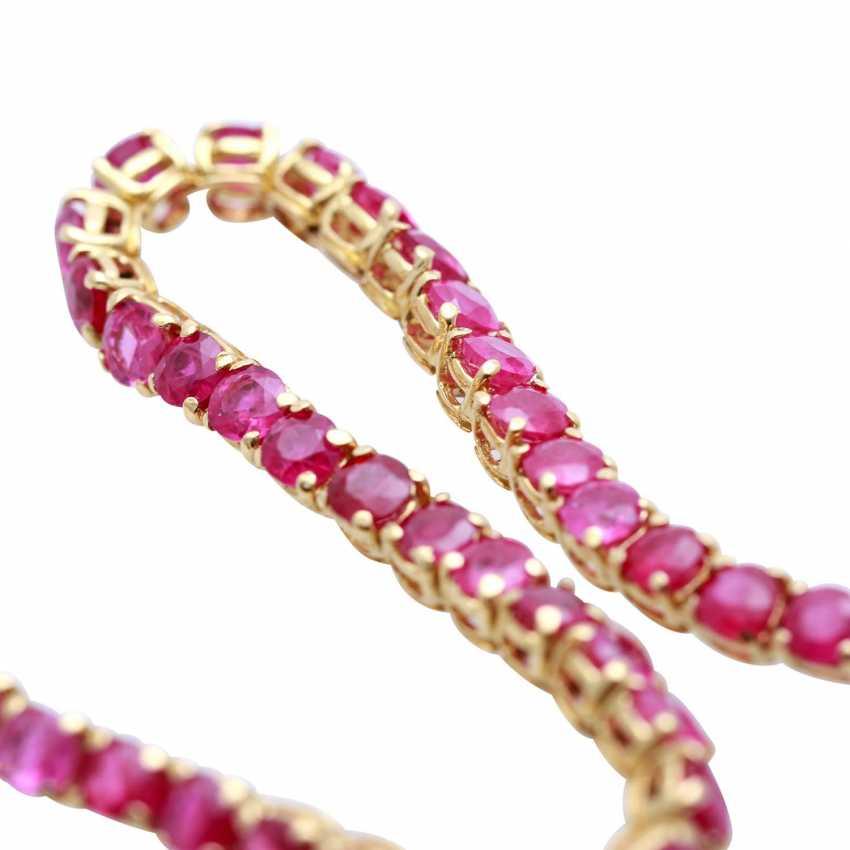 Bracelet bes. with rundfac. Rubies - photo 4