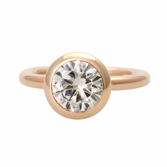 GÜNTER KRAUSS solitaire with approximately 2.2 ct., - photo 1