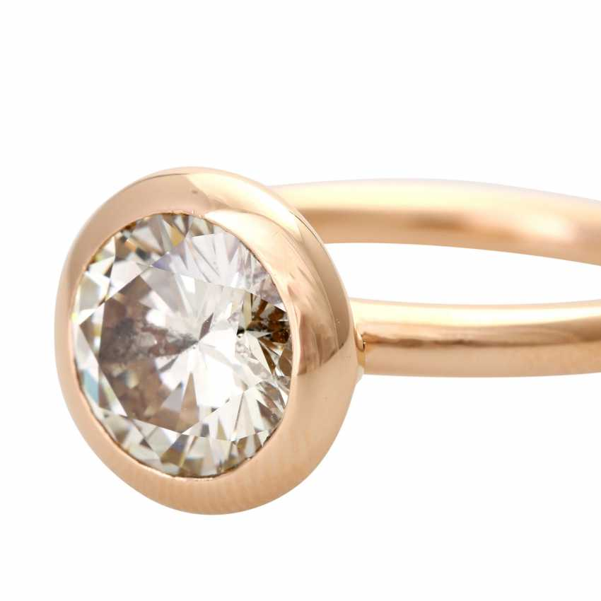 GÜNTER KRAUSS solitaire with approximately 2.2 ct., - photo 5