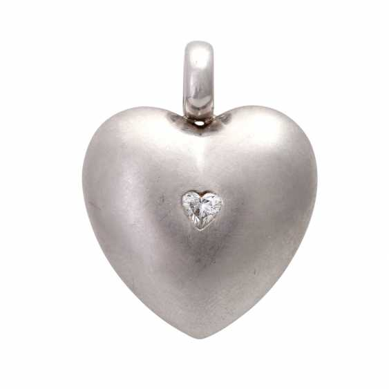 Heart pendant with diamond - photo 1