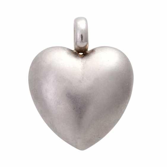 Heart pendant with diamond - photo 3