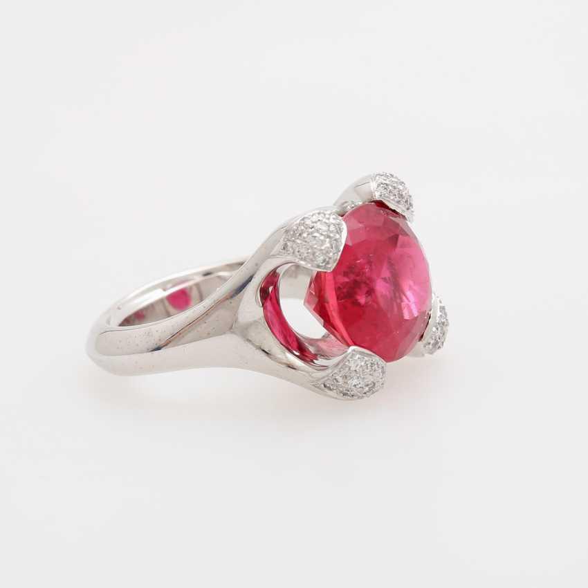 Ladies ring, m. occupied a rubellite - photo 2