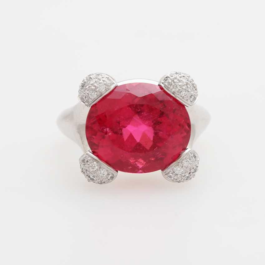 Ladies ring, m. occupied a rubellite - photo 1