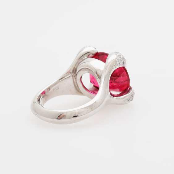 Ladies ring, m. occupied a rubellite - photo 4