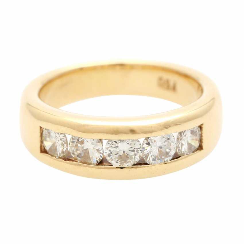 Ladies ring with 5 diamonds - photo 1