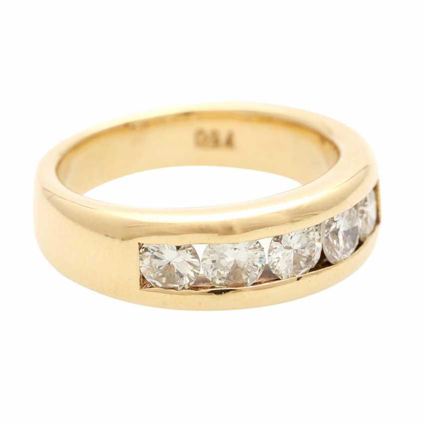 Ladies ring with 5 diamonds - photo 2
