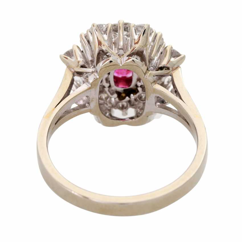 Ladies ring with 1 ruby and diamonds - photo 4