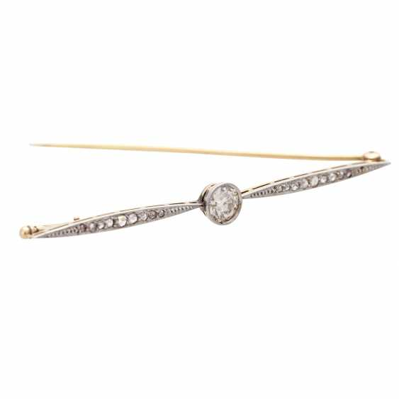 Bar brooch with diamonds - photo 2