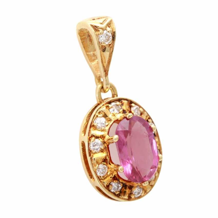 Pendant with ruby and brilliant-cut diamonds - photo 2