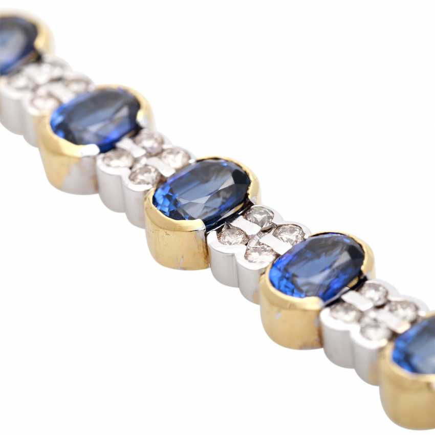Bracelet with sapphires and diamonds - photo 4