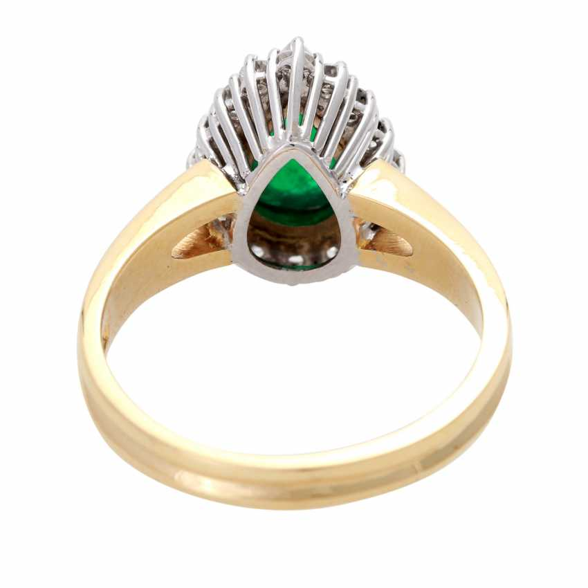 Ladies ring with 1 emerald drop - photo 4
