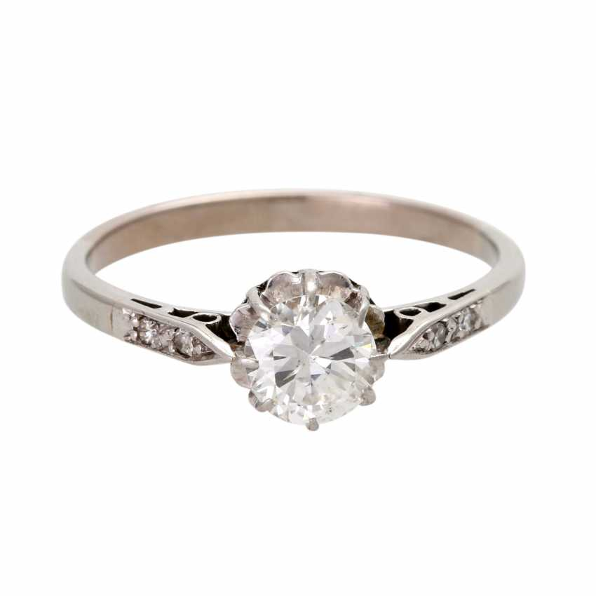 Engagement ring with brilliant, approximately 0.5 ct, - photo 1