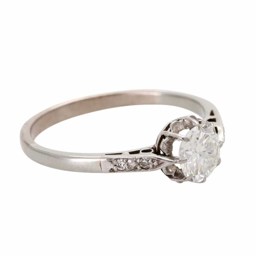 Engagement ring with brilliant, approximately 0.5 ct, - photo 2