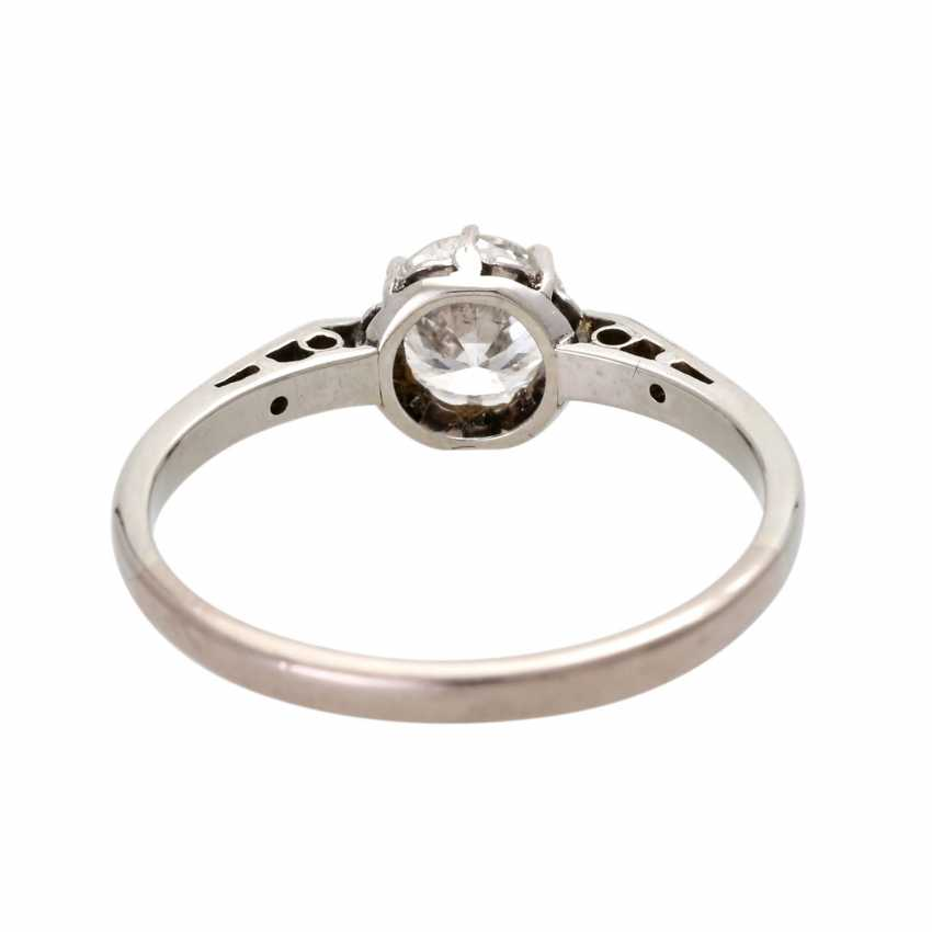 Engagement ring with brilliant, approximately 0.5 ct, - photo 4