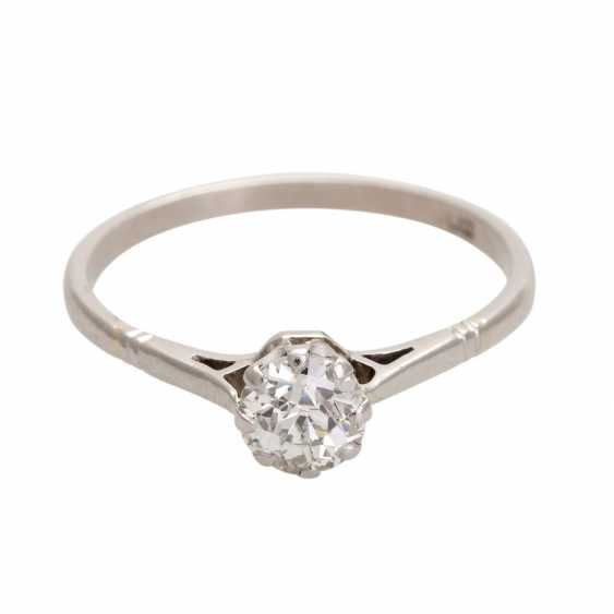 Engagement ring with old European cut diamond, approximately 0.25 ct, - photo 1