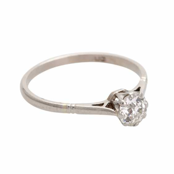 Engagement ring with old European cut diamond, approximately 0.25 ct, - photo 2