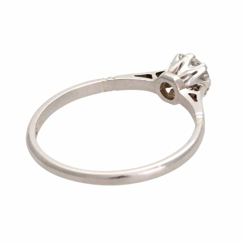 Engagement ring with old European cut diamond, approximately 0.25 ct, - photo 3