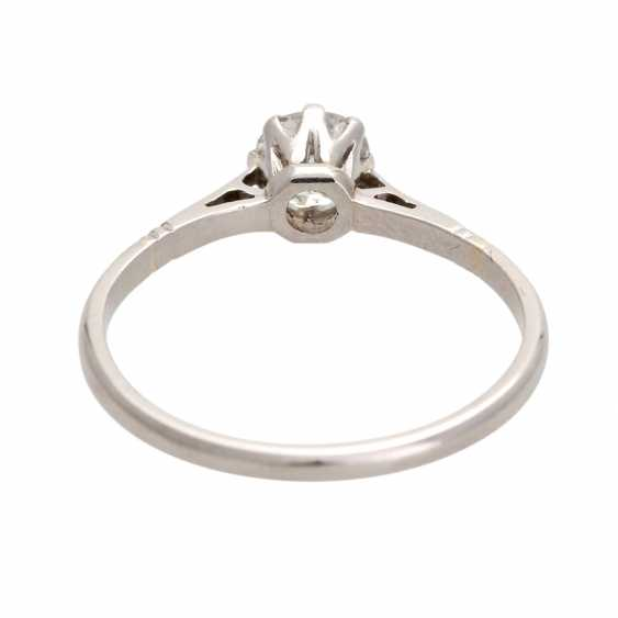 Engagement ring with old European cut diamond, approximately 0.25 ct, - photo 4