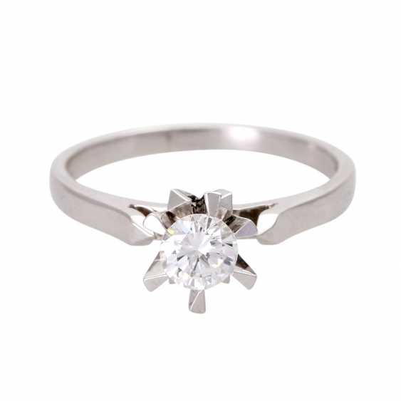 Engagement ring, set with 1 diamond approx 0,45 ct - photo 1