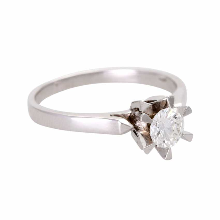 Engagement ring, set with 1 diamond approx 0,45 ct - photo 2