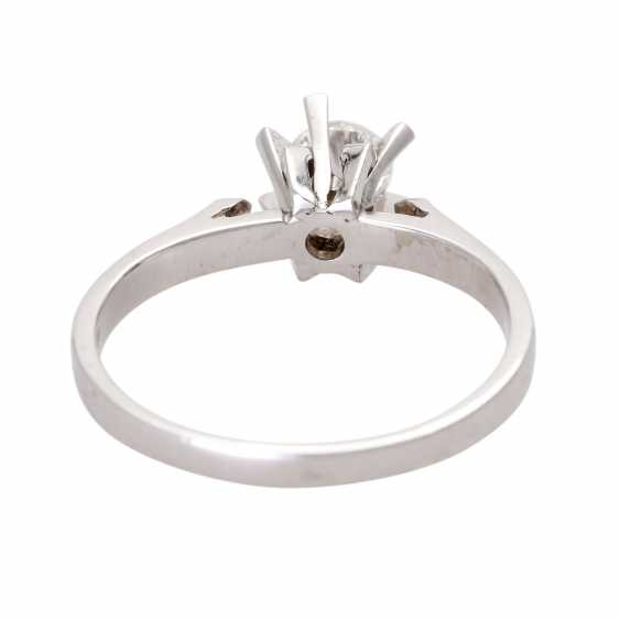Engagement ring, set with 1 diamond approx 0,45 ct - photo 4