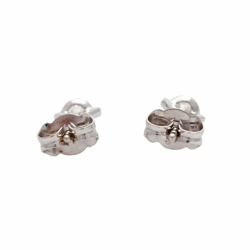 Solitaire stud earrings with 1 diamond, approx 0.4 ct, - photo 5