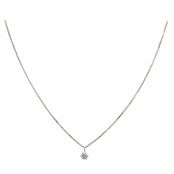 Chain with pendant, set with 1 Brillant CA. 0,60 ct, - photo 1
