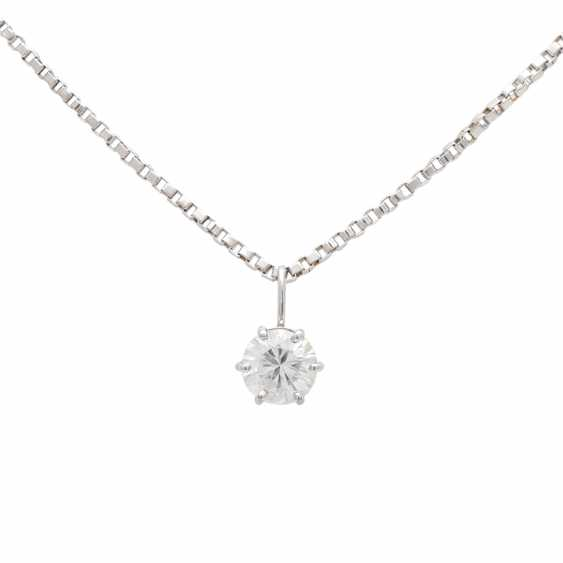 Chain with pendant, set with 1 Brillant CA. 0,60 ct, - photo 2