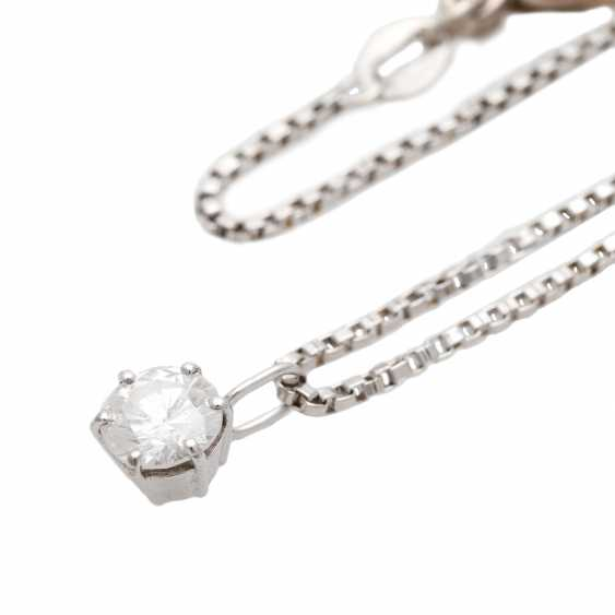 Chain with pendant, set with 1 Brillant CA. 0,60 ct, - photo 4