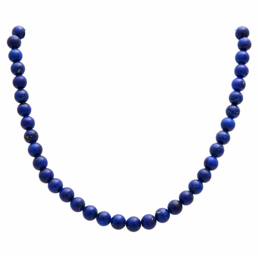 Necklace, lapis lazuli balls - photo 1