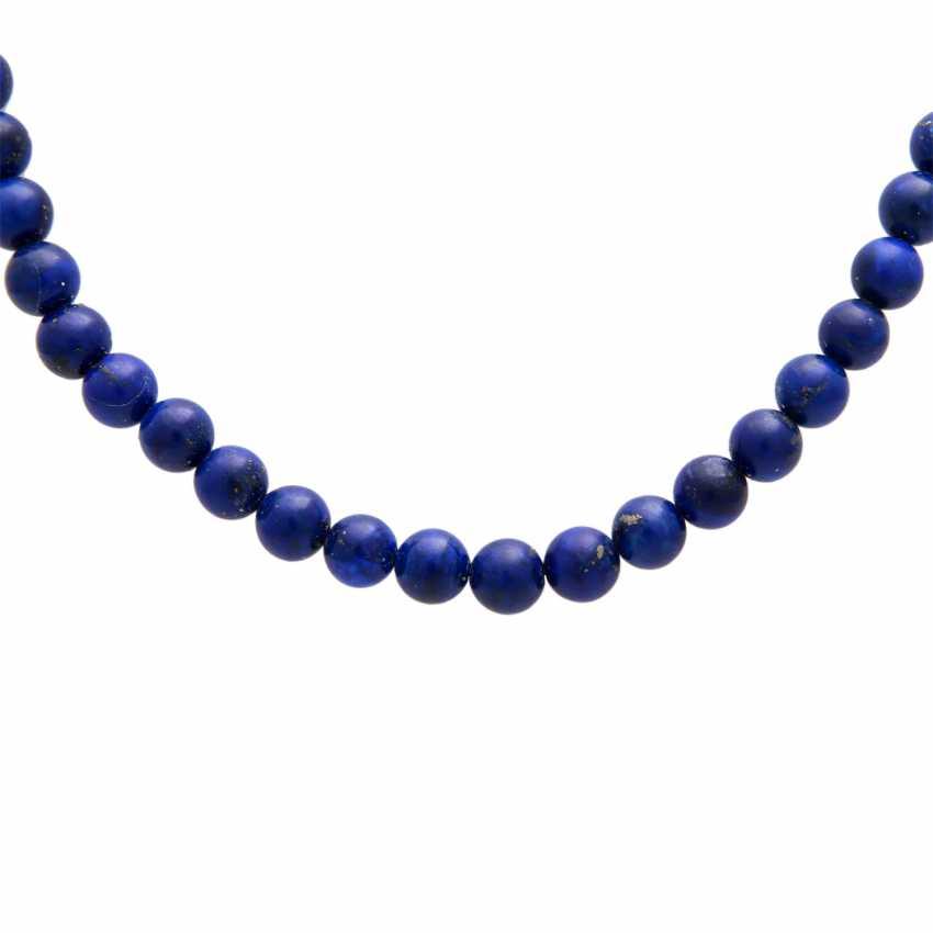 Necklace, lapis lazuli balls - photo 2