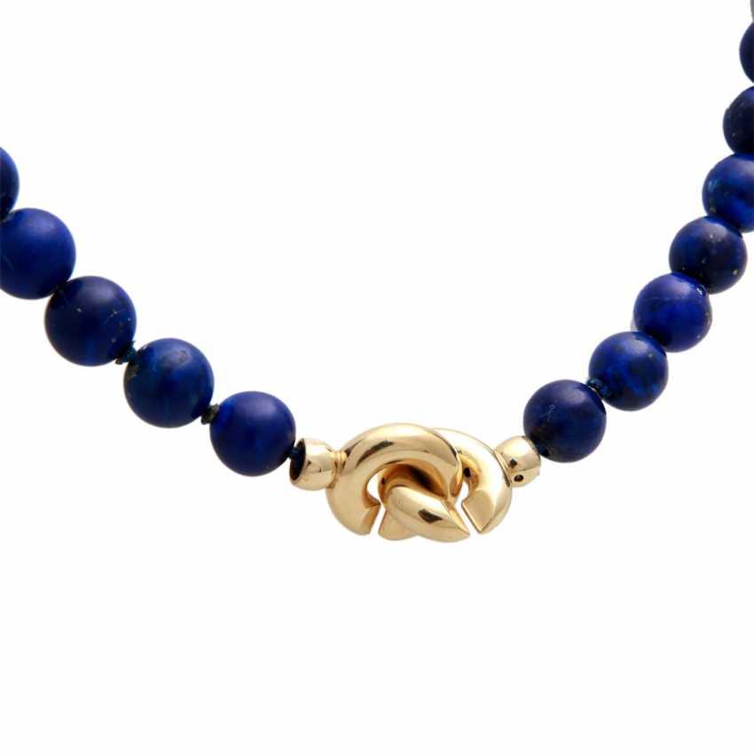Necklace, lapis lazuli balls - photo 3