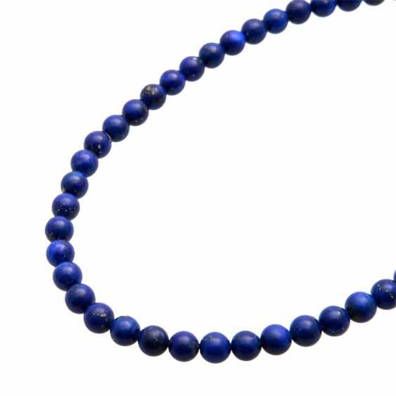 Necklace, lapis lazuli balls - photo 5