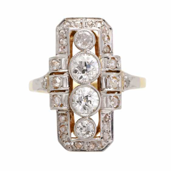 ART DECO Ring with diamonds, approximately 0.8 ct, - photo 1